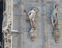 Views of cathedral in Milan, Duomo di Milano Royalty Free Stock Images