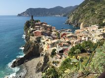Views of Cinque Terre while. Taken while hiking Royalty Free Stock Photography