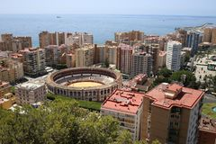 Views of the city of Malaga in Andalusia Spain. Views of the city of Malaga in Andalusia, southern Spain. It is a coastal tourist city. With excellent places to Royalty Free Stock Photo