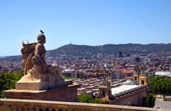 Spain. Barcelona. Views of the city from the mountain Montjuic Royalty Free Stock Image