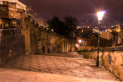 Views of the City of Prague. At night royalty free stock images