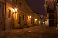 Views of the City of Prague. At night stock image