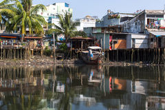 Views of the city's Slums from the river Stock Photography