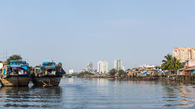Views of the city's Slums from the river Stock Images