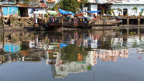 Views of the city's Slums from the river Royalty Free Stock Photography