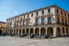 Views of the city Soria. SORIA IN CASTILLA AND LEON, SPAIN, MAY 18,2018: Details of Soria royalty free stock images