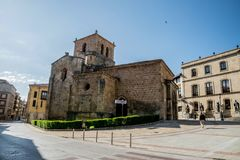 Views of the city Soria. SORIA IN CASTILLA AND LEON, SPAIN, MAY 18,2018: Details of Soria royalty free stock image