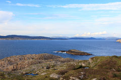 Views of the coastal landscape Stock Image