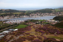Views from Conwy Mountain Royalty Free Stock Photo