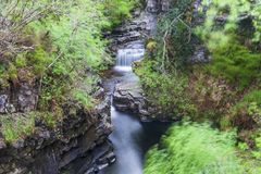 Views of Corrieshalloch Gorge royalty free stock photo