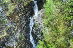 Views of Corrieshalloch Gorge stock photography