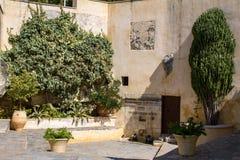 Views of the Cretan monastery. Stock Photo
