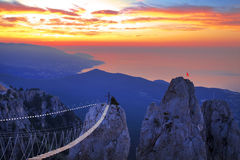 Views of the Crimea with the top of the mountain Royalty Free Stock Photography