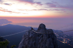 Views of the Crimea with the top of the mountain Stock Photography