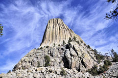 Views of Devils Tower Royalty Free Stock Photos