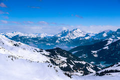 Views of the Diablerets, Switzerland. Views of the resort Diablerets from Portes du Soleil, Switzerland Stock Image