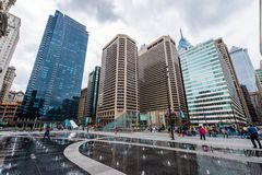 Views in Dilworth park in center city philadelphia pennsylvania. Next to city hall Royalty Free Stock Photos