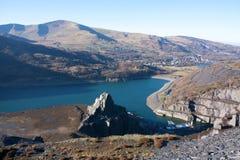 Views from Dinorwig Quarry Stock Image