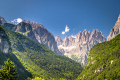 Views of the Dolomites, Italian alps. Stock Photo