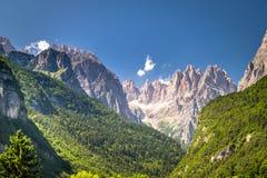 Views of the Dolomites, Italian alps. Stock Photo