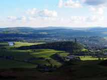 Views from Dumyat, Wallace Monument Royalty Free Stock Photos