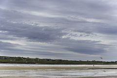 Landscape of Dunnet Bay beag. Views of Dunnet Bay beach,sea and cliffs in Scottish Highlands Stock Image