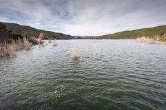 Views of El Vado Reservoir, Guadalajara, Spain Royalty Free Stock Images