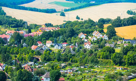 Views European village with Royalty Free Stock Photography
