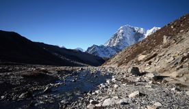 Views of the Everest base camp trail Royalty Free Stock Photo