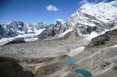 Views of the Everest base camp trek Royalty Free Stock Image