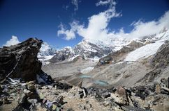 Views of the Everest base camp trek Royalty Free Stock Images