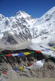 Views of the Everest base camp trek Royalty Free Stock Photo