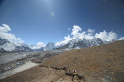 Views of the Everest base camp trek Royalty Free Stock Photos