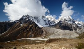 Views of the Everest ridge Royalty Free Stock Images