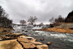 Root River Falls. Views of the falls and Root River in Minnesota stock photo