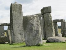 Stonehenge --a prehistoric standing stone monument located in England. Views of the famous prehistoric standing stone monument called Stonehenge, located in royalty free stock images