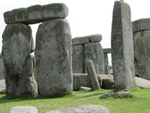 Stonehenge --a prehistoric standing stone monument located in England. Views of the famous prehistoric standing stone monument called Stonehenge, located in stock photo
