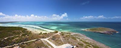 Cayo Paredon Grande in Cuba. Views from Faro Lighthouse over Cayo Paredon Grande, Camaguey Province, Cuba royalty free stock photography