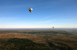 Views of field, balloons, village, countryside and horizon from Stock Photography