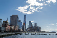 Views of the financial district from Tribeca (NYC) Stock Photography