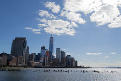 Views of the financial district from Tribeca (NYC) Royalty Free Stock Images