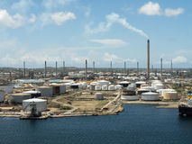 Views from Fort Nassau -oil refinery Royalty Free Stock Photography