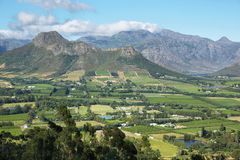 Views from Franschhoek Pass Stock Images