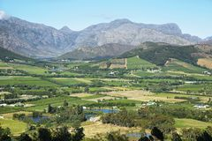 Views from Franschhoek Pass Royalty Free Stock Photography