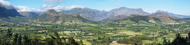 Views from Franschhoek Pass Royalty Free Stock Photo