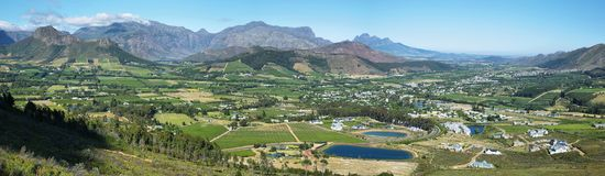 Views from Franschhoek Pass Stock Photo