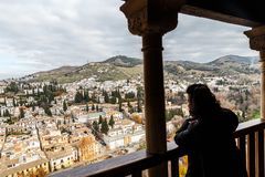 Free Views From The Balcony At Alhambra Royalty Free Stock Photo - 157848845