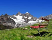 Swiss Alps. Views of the Gabelhorn - Swiss Alps stock image