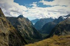 Views. Gertrude Saddle viewpoint New Zealand Stock Image