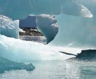 Views In Glacier Ice In The Bay, Alaska stock photos
